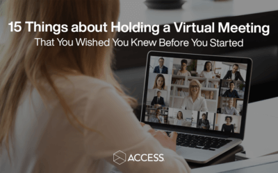 15 Things About Holding a Virtual Meeting that You Wished You Knew Before You Started