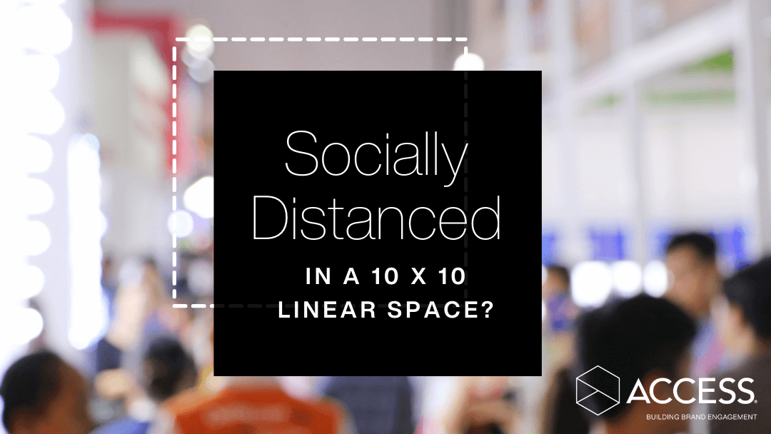 Socially Distanced in a 10 X 10 linear space?